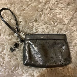 Metallic Coach Wristlet
